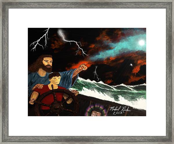 Jesus And The Sailor Framed Print