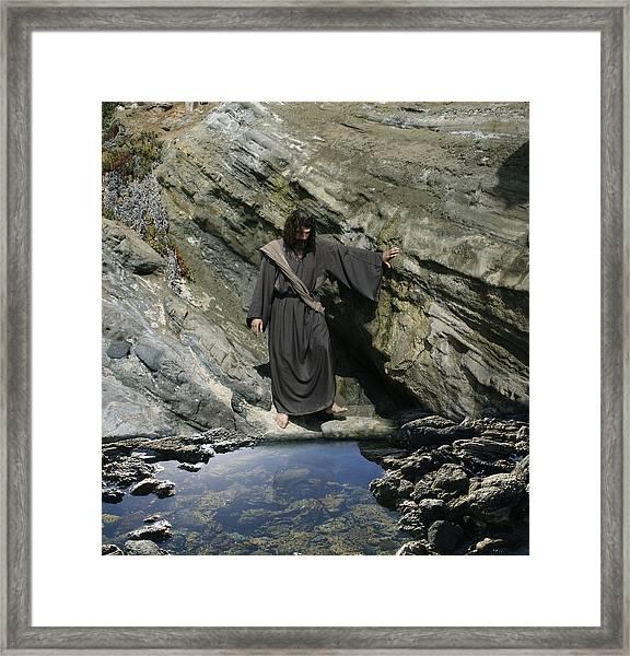 Jesus At The Pond Framed Print