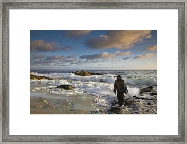 Jesus Christ- Follow Me And I Will Make You Fishers Of Men Framed Print