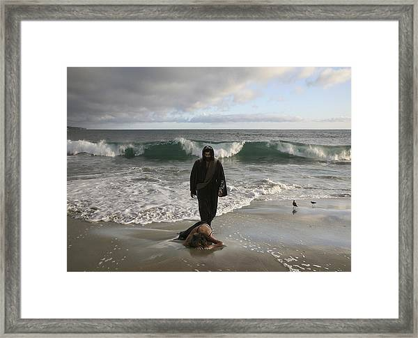 Jesus Christ- I Love You So Much Don't Cry I'm Here Framed Print