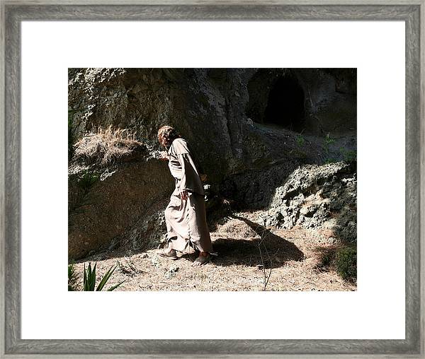 Jesus Christ- Walk In The Light While You Can Framed Print