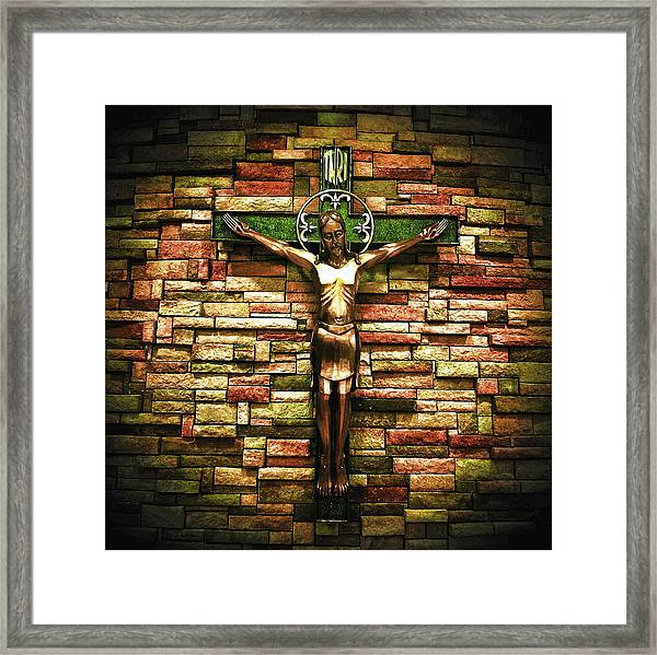 Jesus Is His Name Framed Print