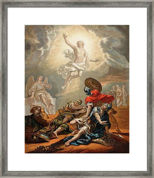 Jesus Is Resurrected From The  Grave Framed Print