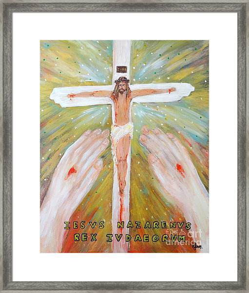 Jesus - King Of The Jews Framed Print