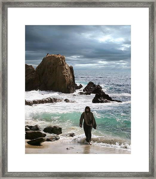 Jesus- No One Comes To The Father Except Through Me Framed Print