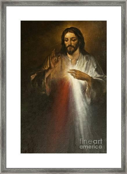 Jesus Of Divine Mercy Framed Print