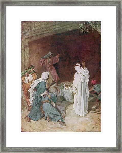 Jesus Restores Lazarus To Life Framed Print