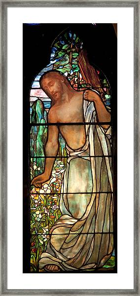 Jesus Stained Art - St Paul's Episcopal Church Selma Alabama Framed Print