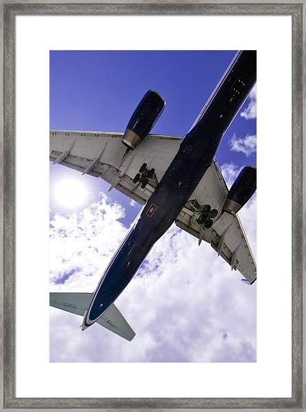 Jet Under Belly 2 Framed Print