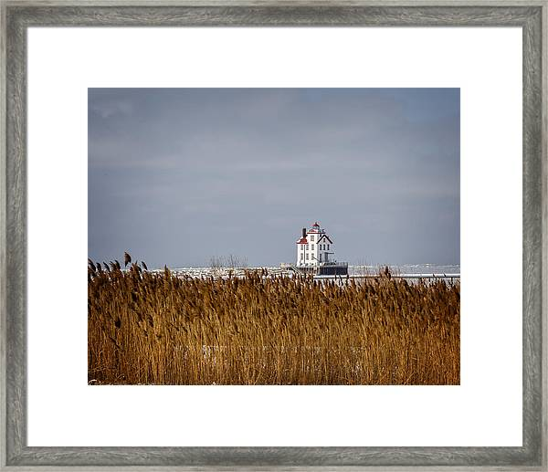 jewel of the Port Lorain Lighthouse Framed Print
