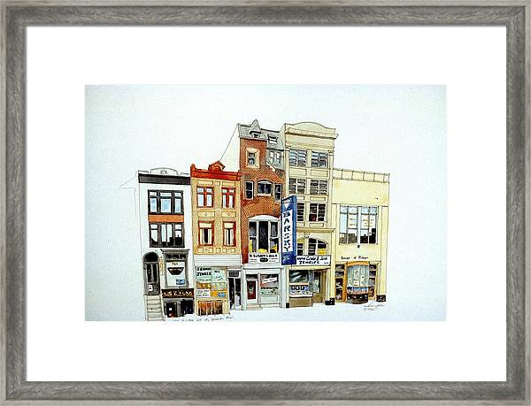 Jeweler's Row Framed Print
