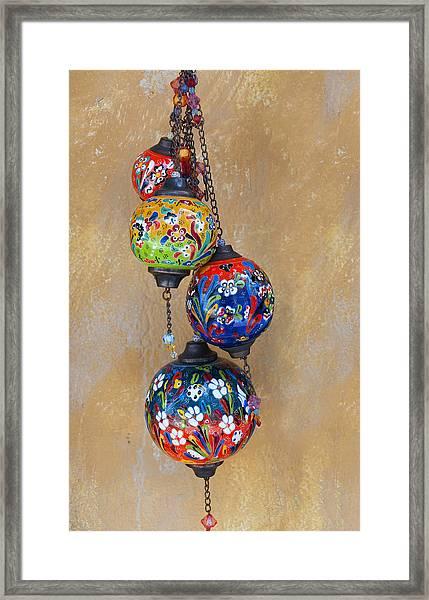Jewelled Glass Framed Print