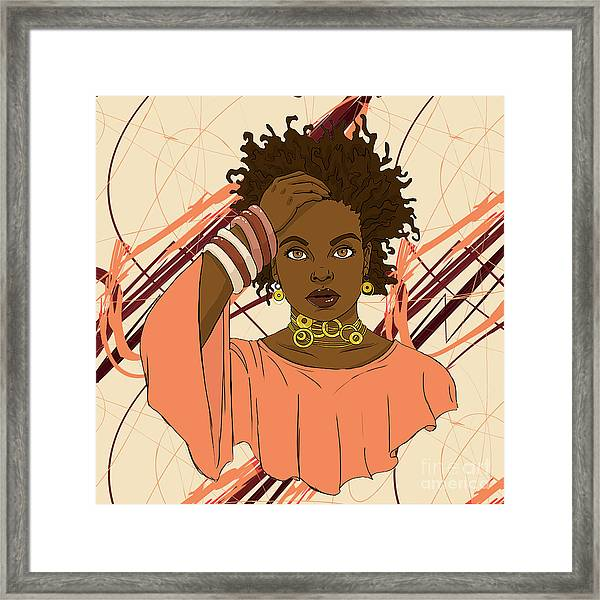 Jilly From Philly Framed Print by Respect the Queen