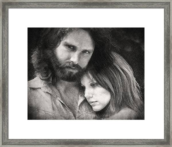 Jim And Pam Framed Print