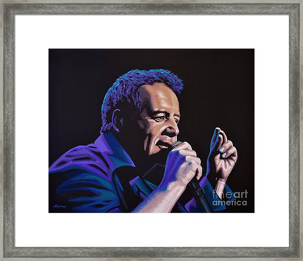 Jim Kerr Of The Simple Minds Painting Framed Print