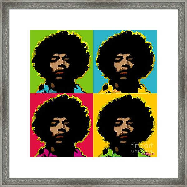 Jimi Hendrix 4-up Framed Print