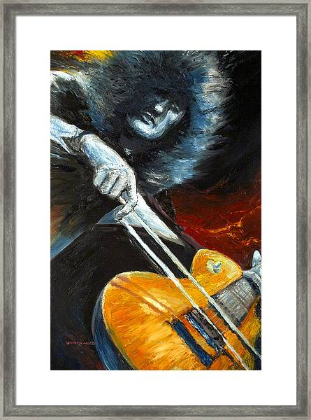 Jimmy Page Dazed And Confused Framed Print
