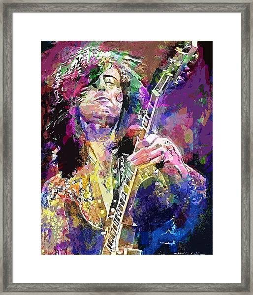 Jimmy Page Electric Framed Print