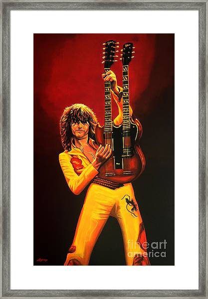 Jimmy Page Painting Framed Print