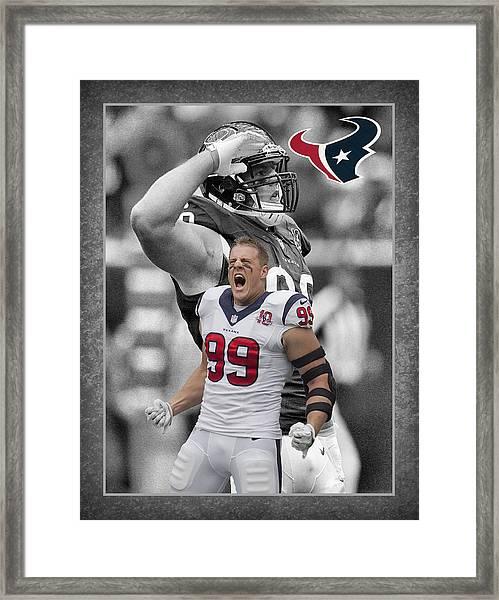 Jj Watt Texans Framed Print