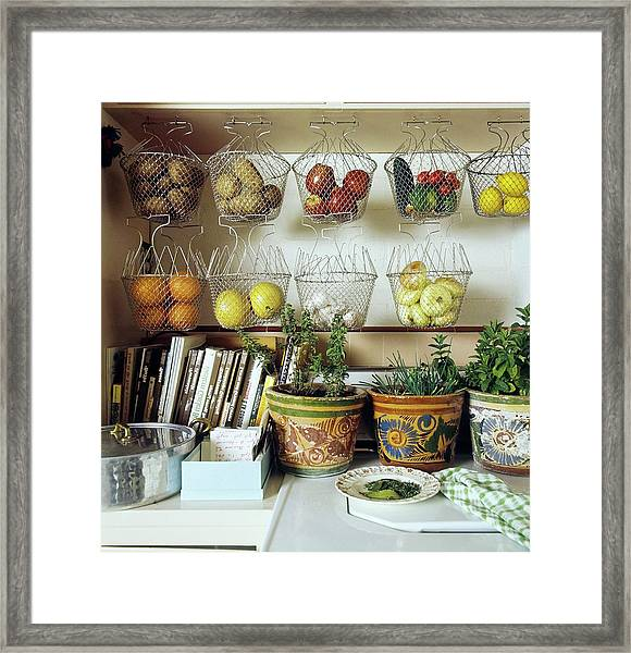 Joan Didion's Kitchen Framed Print