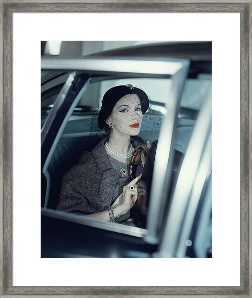 Joan Friedman In A Car Framed Print
