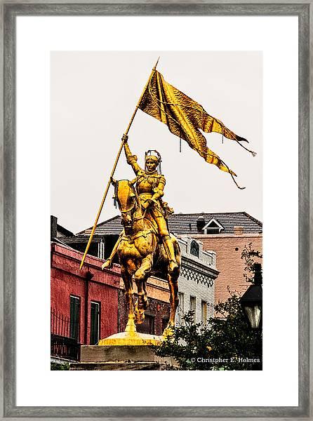 Joan Of Arc Framed Print