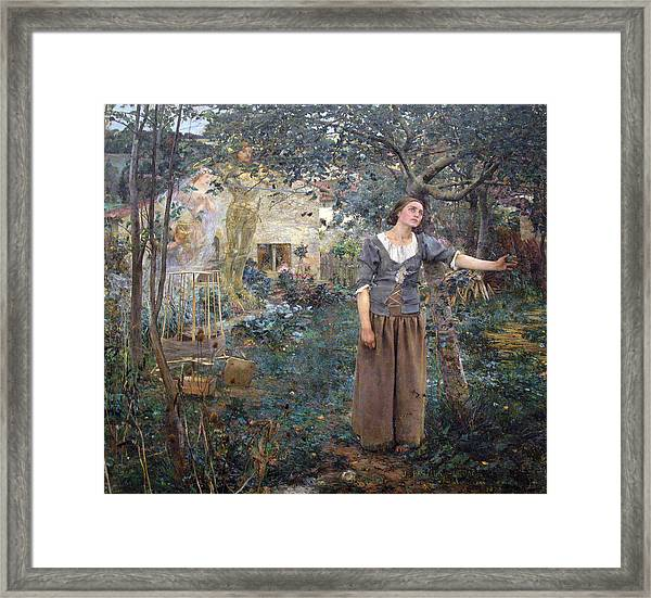 Framed Print featuring the painting Joan Of Arc by Jules Bastien-Lepage