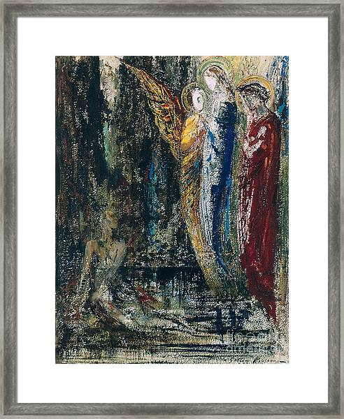 Job And The Angels Framed Print