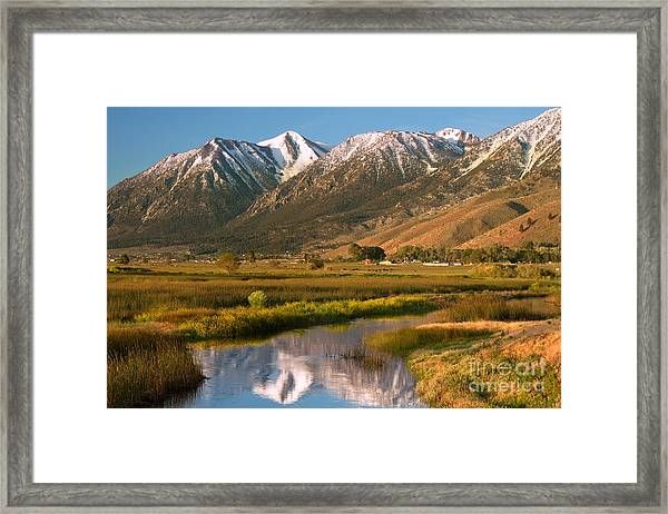 Job's Peak Reflections Framed Print