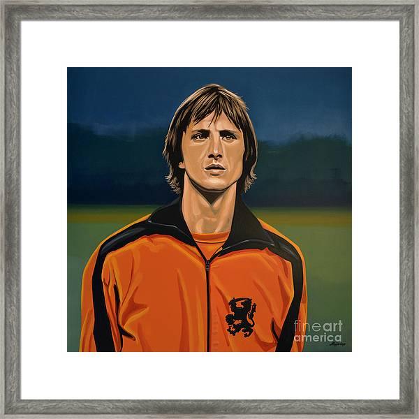 Johan Cruyff Oranje Framed Print