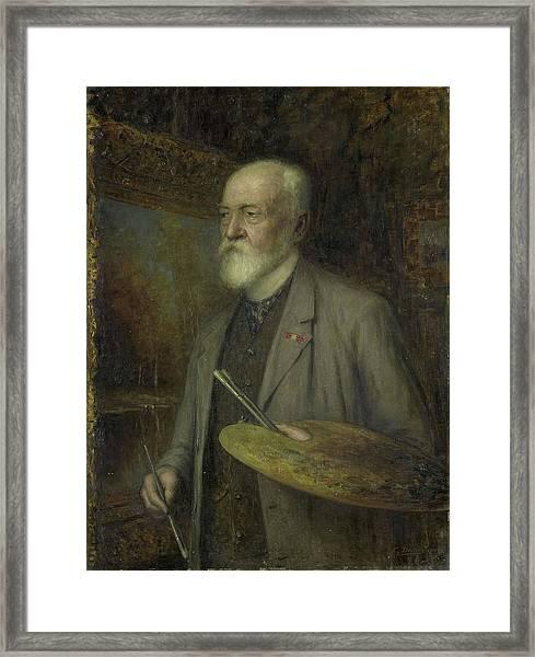 Johannes Gijsbert Vogel 1828-1915 Framed Print by Litz Collection