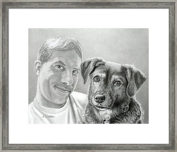 John And Howie Framed Print