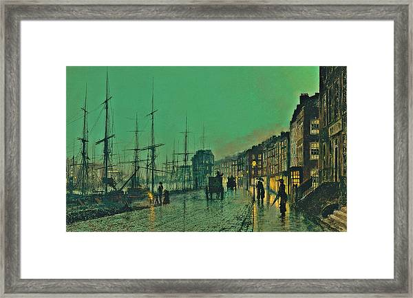 John Atkinson Grimshaw Shipping On The Clyde 1881 Framed Print