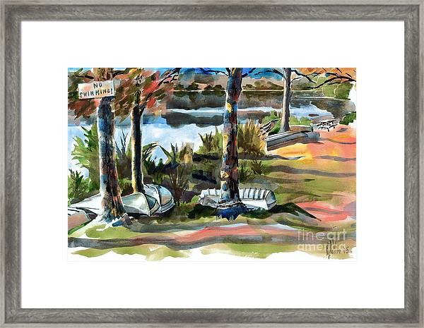 John Boats And Row Boats Framed Print