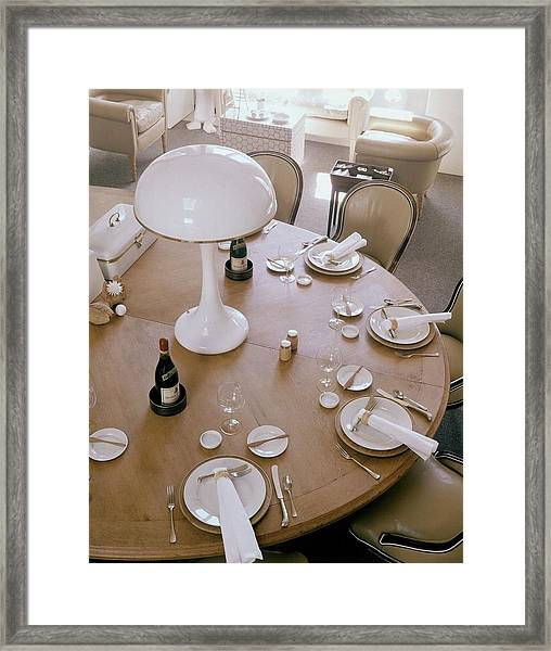 John Dickinson's Dining Table Framed Print