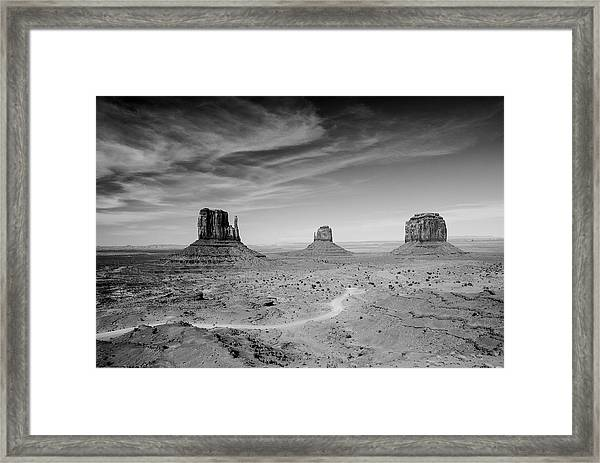 John Ford View Of Monument Valley Framed Print