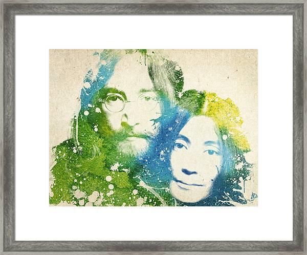 John Lennon And Yoko Ono Framed Print