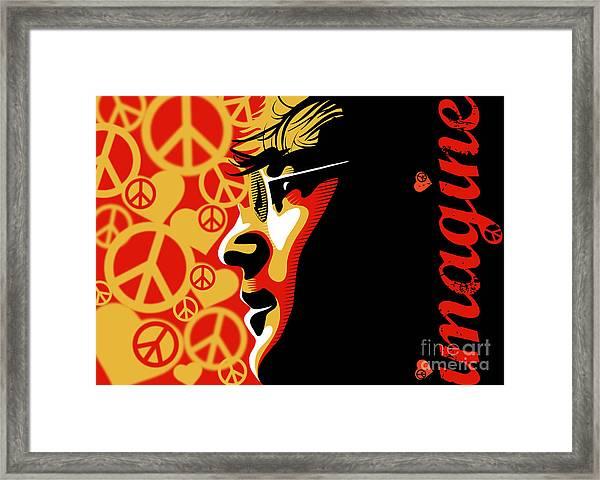 John Lennon Imagine Framed Print