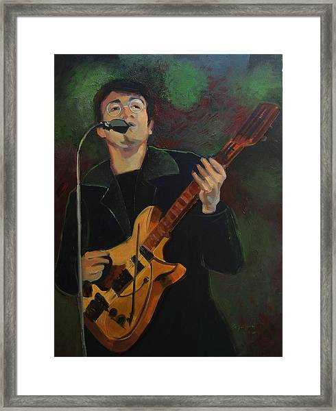 John Lennon In Performance Framed Print