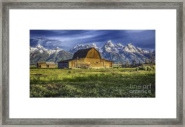 John Moulton Barn Framed Print