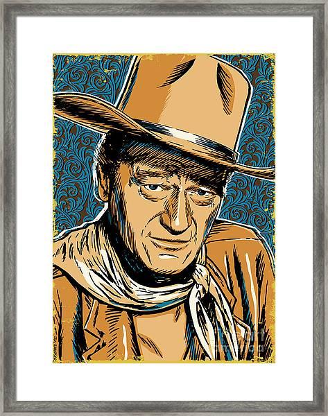 John Wayne Pop Art Framed Print