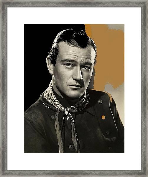 John Wayne  Publicity Photo In Costume Stagecoach 1939-2009 Framed Print