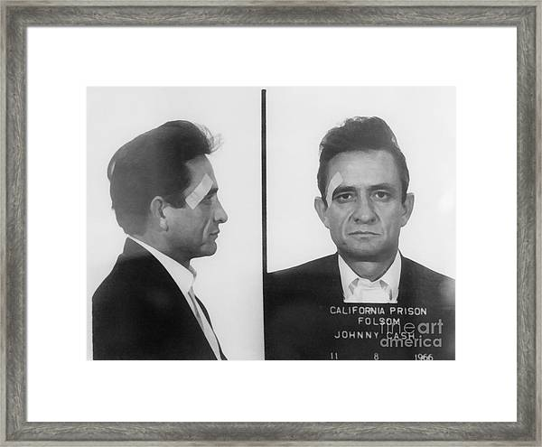 Johnny Cash Folsom Prison Wall Art Framed Print