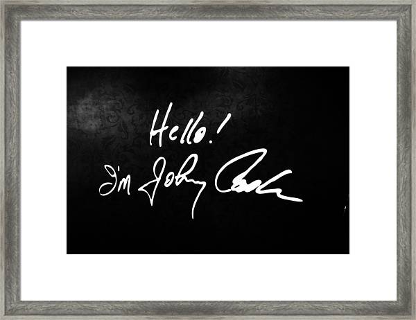 Johnny Cash Museum Framed Print