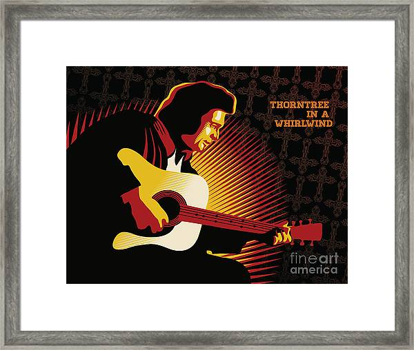 Johnny Cash Thorntree In A Whirlwind Framed Print