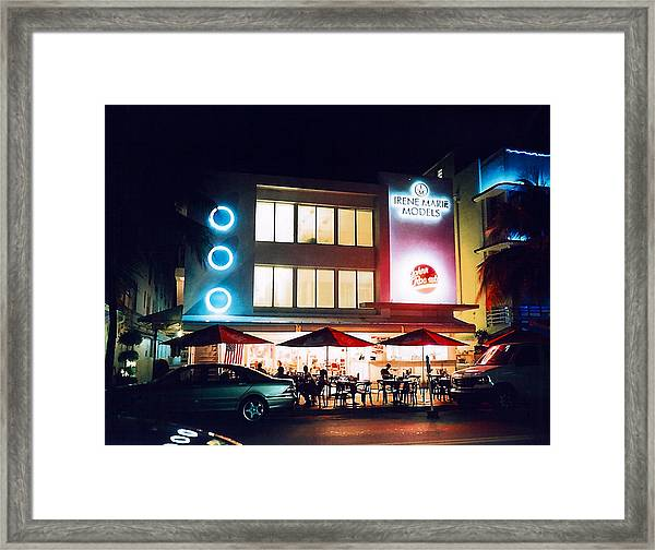 Johnny Rockets Polaroid Framed Print