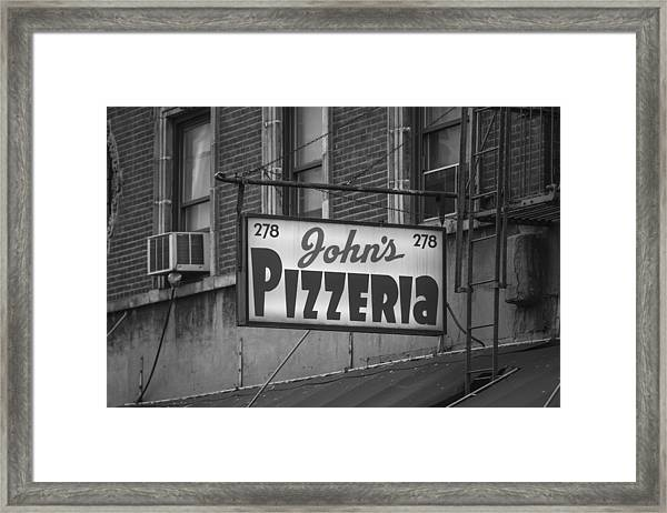 John's Pizzeria In Nyc Framed Print