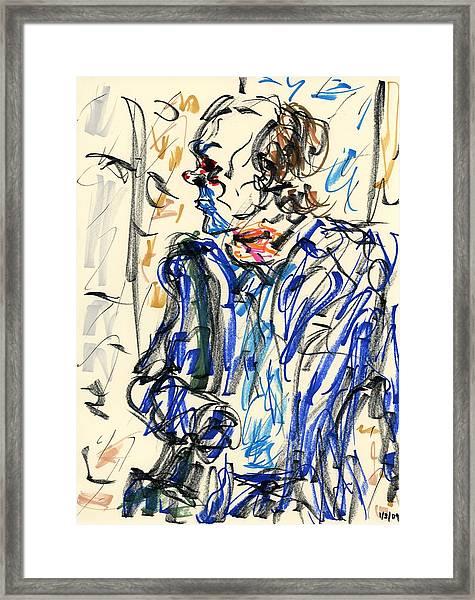 Joker - Bozo Framed Print