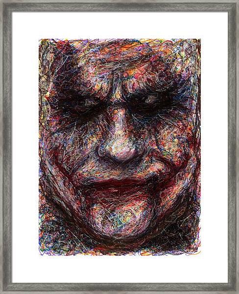 Joker - Face I Framed Print